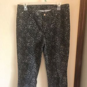 Leopard Talbots skinny jeans